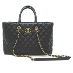 CHANEL A57974 Matrasse Shopping Bag Soft Caviar Skin Women's Handbag DH60213 [Used] A Rank