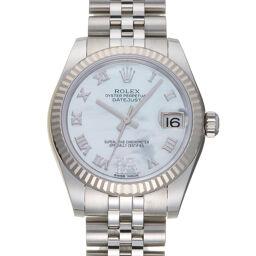ROLEX ロレックス 178274 デイトジャスト VI ダイヤモンド ランダム番 ステンレススチール×K18ホワイトゴールド レディース・メンズ 腕時計 DH60223【中古】Aランク