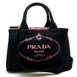 PRADA Prada 1BG439 Kanapat Tote Fabric 2Way Canvas Ladies Tote Bag DH60277 [Used] A rank