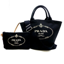 PRADA Prada 1BG186 Kanapat Tote 2Way Canvas Ladies Tote Bag DH60279 [Used] A rank