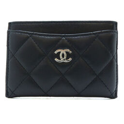 CHANEL A31510 Matrasse Pass Case Lambskin Ladies Card Case DH60280 [Used] AB Rank