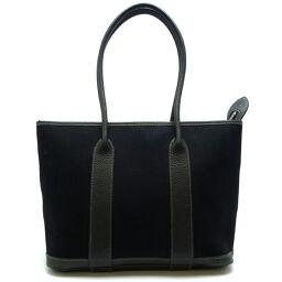 HERMES Hermes Garden Zip PM □ M Engraved 2009 Toile Ash Ladies Tote Bag DH60281 [Used]
