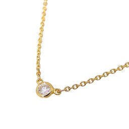 TIFFANY & Co. Tiffany 750YG by the yard 0.08ct 750 yellow gold ladies necklace DH60301 [used] A rank