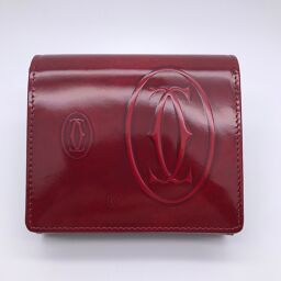 CARTIER Cartier L3000720 Happy Birthday Leather Ladies Tri-Fold Wallet DH60321 [Used] A rank