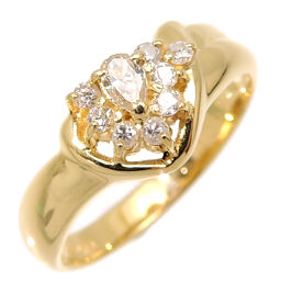 Non Brand Non Brand K18YG Diamond 0.09ct / 0.12ct K18 Yellow Gold No. 11 Ladies Ring / Ring DH60346 [Used] A rank
