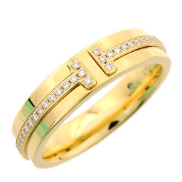 TIFFANY&Co. ティファニー T ナロー ミディアム 750イエローゴールド 13号 レディース リング・指輪 DH60356【中古】Aランク