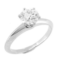 TIFFANY&Co. ティファニー ソリテール ダイヤモンド 0.86ct Pt950プラチナ 12号 レディース リング・指輪 DH60398【中古】Aランク