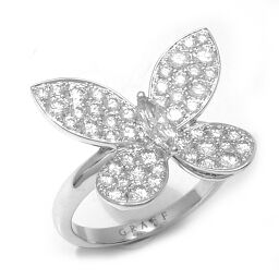 GRAFF Graph Butterfly Diamond 750 White Gold No. 9 Ladies Ring / Ring DH60403 [Used] A rank