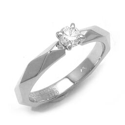 Boucheron Boucheron Facet Solitaire 0.20ct Diamond # 51 Pt950 Platinum No. 11 Ladies Ring / Ring DH60405 [Used] A rank