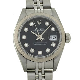 ROLEX Rolex 79174G Datejust 10P Diamond K No. 2001 Stainless Steel x K18 White Gold Ladies Watch DH60434 [Used] A rank
