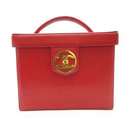 CHANEL Chanel Vanity Bag Caviar Skin Ladies Handbag DH60452 [Used]