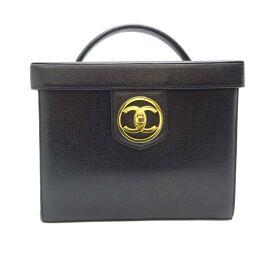 CHANEL Chanel Vanity Bag Caviar Skin Ladies Handbag DH60453 [Used] AB Rank