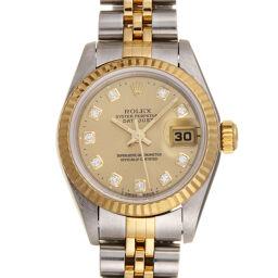 <html>    <body>   ROLEX ロレックス 69173G デイトジャスト 10P ダイヤモンド W番 1994年製 ステンレススチール×K18イエローゴールド レディース 腕時計 DH60478【中古】Aランク        </body> </html>