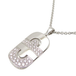 BVLGARI Bulgari 750WG Parentesi Diamond 750 White Gold Women's Men's Necklace DH60689 [Used] A rank