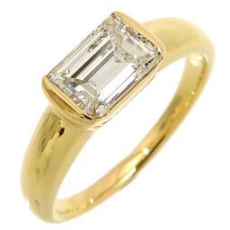 HARRY WINSTON ハリーウィンストン エメラルド カット ダイヤモンド 1.00ct K18イエローゴールド 10.5号 レディース リング・指輪 DH60693      【中古】Aランク