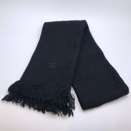 CHANEL Muffler accessory Ladies x Rain wool 87% Polyamide nylon 13% Ladies muffler DH60761 [Used] A rank