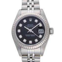 <html>    <body>   ROLEX ロレックス 79174G デイトジャスト 10P ダイヤモンド F番 2003〜2004年製 ステンレススチール×K18ホワイトゴールド レディース 腕時計 DH60929【中古】Aランク        </body> </html>