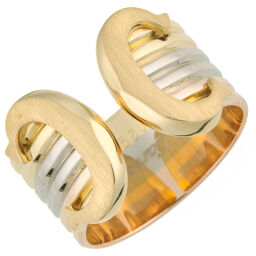 CARTIER Cartier 2C # 51 750 Yellow Gold x 750 Pink Gold x 750 White Gold No. 11 Ladies Ring / Ring DH60947 [Used] A rank