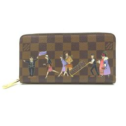 LOUIS VUITTON N63004 Damier Illustre Zippy钱包(仅2011年)Damier Canvas女士男士长钱包DH61027 [二手]