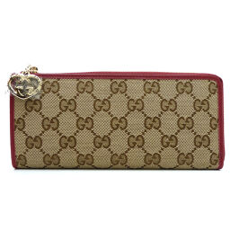 GUCCI Gucci 295671 L-shaped zipper wallet GG canvas x leather ladies wallet DH61042 [used] SA rank