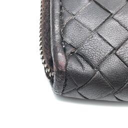 BOTTEGA VENETA Intrecciato L-shaped zipper wallet x leather men's long wallet DH61080 [used]