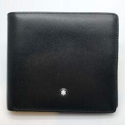 MONTBLANC Montblanc Bi-Fold Wallet x Leather Women's Men's Bi-Fold Wallet DH61083 [Used] A rank