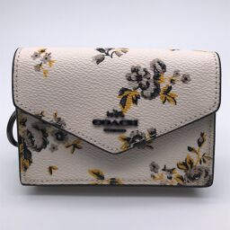 COACH Coach F59746 (Outlet) Small Monogram Canvas Ladies Business Card Holder DH61117 [Used] AB Rank