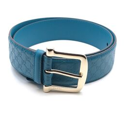 GUCCI Gucci 281548 Micro Gucci Shima Belt x Leather Men's Belt DH61120 [Used] A rank