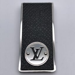 LOUIS VUITTON Louis Vuitton M00020 (Discontinued) Bill Clip Neo LV Club Taiga Women's Men's Money Clip DH61127 [Used] AB Rank