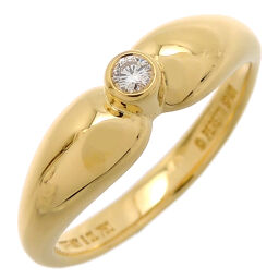 TIFFANY & Co. Tiffany 750YG Double Teardrop Diamond 750 Yellow Gold No. 14 Ladies Ring / Ring DH61169 [Used] A rank