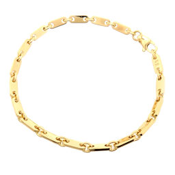 CARTIER Cartier 750YG Figaro 750 Yellow Gold Women's Men's Bracelet DH61178 [Used] A rank