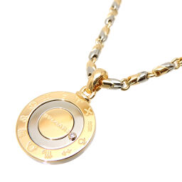 BVLGARI 750YG Horoscope Diamond 750 Yellow Gold x Stainless Steel Ladies Necklace DH61181 [Used] A rank
