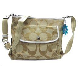COACH Coach F16558 Signature Shoulder Bag Canvas Ladies Shoulder Bag DH61207 [Used]