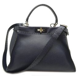 FENDI FENDI 8BN290 Peek-A-Boo Celeria Celeria Leather Women's Handbag DH61219 [Used] AB Rank