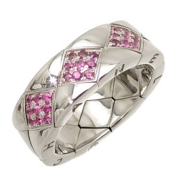 CHANEL 750WG # 51 Matrasse Ruby 750 White Gold No. 12 Ladies Ring / Ring DH61248 [Used] A rank