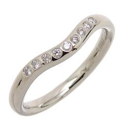TIFFANY & Co. Tiffany Pt900 Curved Band Diamond Pt900 Platinum No. 9 Ladies Ring / Ring DH61282 [Used] A rank