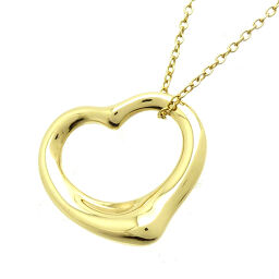 TIFFANY & Co. Tiffany Open Heart 750 Yellow Gold Ladies Necklace DH61352 [Used] AB Rank