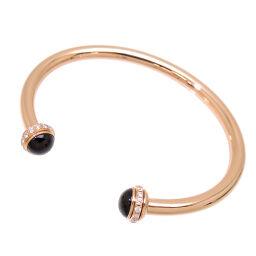 PIAGET Piaget 750PG Possession Diamond Onyx 750 Pink Gold Ladies Bangle DH61539 [Used] A rank