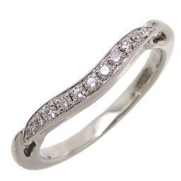 BVLGARI Bvlgari Pt950 0.08ct Incontro Damore Diamond Pt950 Platinum No. 6 Ladies Ring / Ring DH61760 [Used] A rank