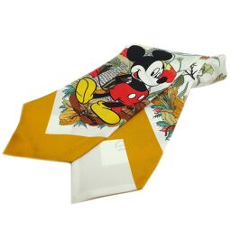 GUCCI Gucci 609320 Disney collaboration silk bow scarf * Product tag cut silk ladies scarf DH61819 [Used] A rank