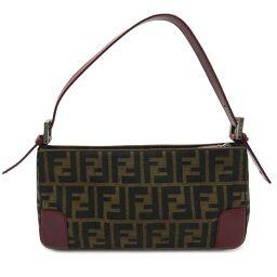 FENDI FENDI 8BR207 Zucca pattern one shoulder bag canvas × leather ladies shoulder bag DH62019 [used] AB rank
