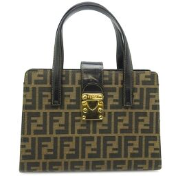 FENDI FENDI Zucca pattern handbag * Strap shortage Canvas x leather Ladies handbag DH62079 [Used]