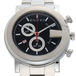 GUCCI Gucci YA101309 (101M) G Chrono Stainless Steel Men's Watch DH62370 [Used] A rank