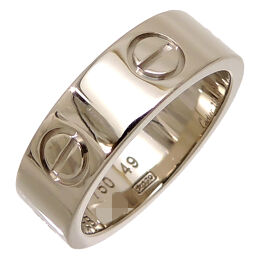CARTIER Cartier 750WG # 49 LOVE Love 750 White Gold No. 9 Ladies Ring / Ring DH62480 [Used] A rank
