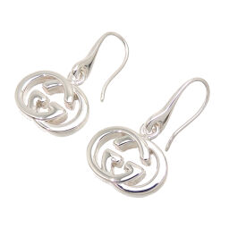 GUCCI Gucci SV925 GG logo motif silver 925 ladies earrings DH62485 [used] A rank