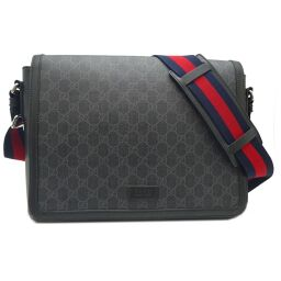 GUCCI Gucci 474138 GG Supreme Messenger GG Supreme Canvas x Leather Men's Shoulder Bag DH62525 [Used] AB Rank