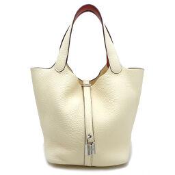 HERMES Hermes Picotan Lock MM Eclat Y engraved 2020 Taurillon Clemence x Vaux Swift Ladies Handbag DH62565 [Used] A rank
