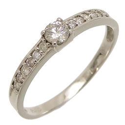 Non Brand Non Brand Pt900 0.30ct Diamond Pt900 Platinum No. 16 Ladies / Men's Ring / Ring DH62572 [Used] A rank