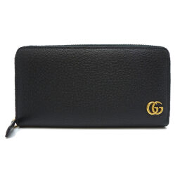 GUCCI Gucci 428736 GG Marmont fastener leather ladies' men's long wallet DH62595 [used] AB rank