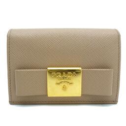 PRADA Prada IMC122 Business Card Holder Saffiano Leather Ladies Card Case DH62681 [Used] AB Rank